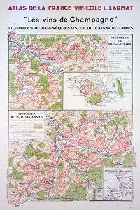 Map of the Champagne Region: Bar-Sequanais and Bar-Sur-Aubois