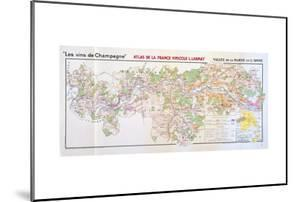 Map of the Champagne Region: Valley of the Marne and L'Aisne