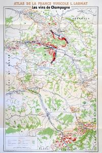 Map of the Champagne Region