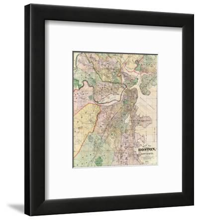 Map of the City of Boston and its Environs, c.1874-G. M. Hopkins-Framed Art Print