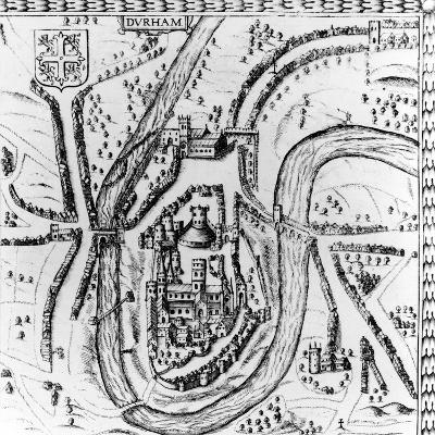 Map of the City of Durham, 17th Century--Giclee Print
