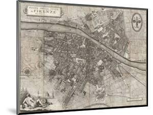 Map of the City of Florence by Giuseppe Molini