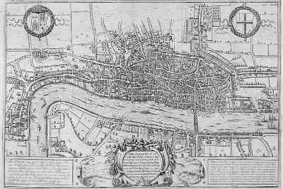 Map of the City of London and City of Westminster in C1600, 1708--Giclee Print