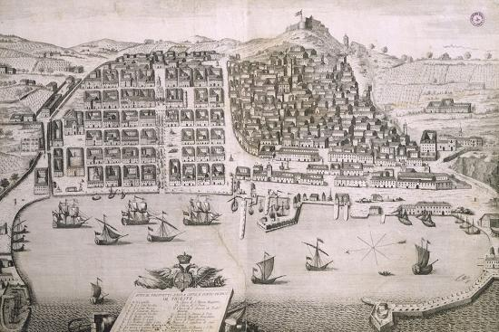 Map of the City of Trieste and its Free Port, Italy Giclee Print by |  Art com