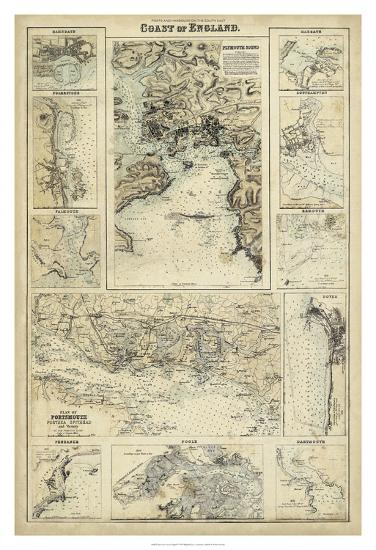 Map of the Coast of England I-Unknown-Giclee Print