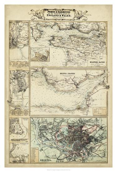 Map of the Coast of England II-Unknown-Giclee Print