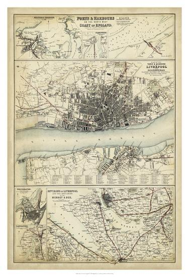 Map of the Coast of England IV-Unknown-Giclee Print