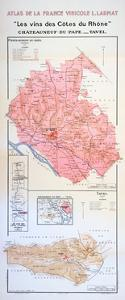 Map of the Côtes Du Rhône Region