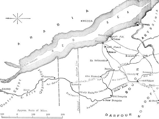 'Map of the Country Between Egypt and the Soudan', c1881-85-Unknown-Giclee Print