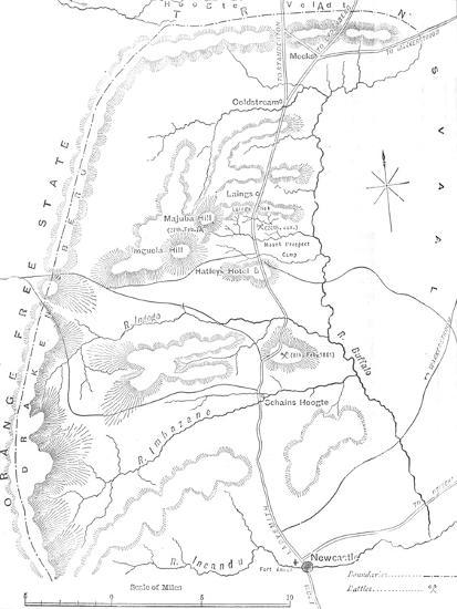 'Map of the Country between Newcastle and the Transvaal', c1880-Unknown-Giclee Print