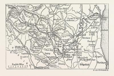Map of the Course of the Wear--Giclee Print
