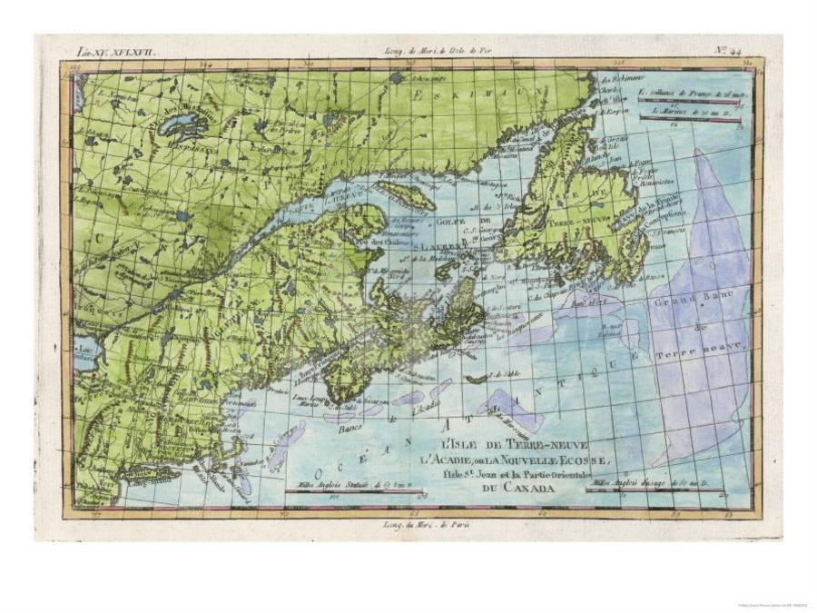 Map Of The East Coast Of Canada.Map Of The East Coast Of North America From New York To Newfoundland Giclee Print By Art Com