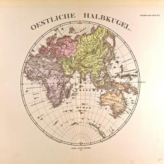 Map of the Eastern Hemisphere, 1872 Giclee Print by | Art.com