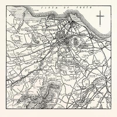 Map of the Environs of Edinburgh--Giclee Print