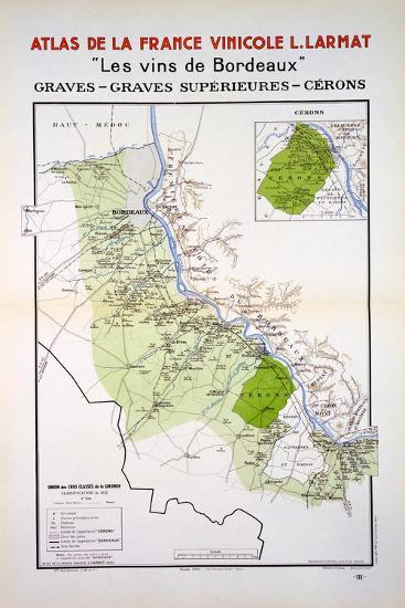 Map of the Graves and Cerons Regions--Giclee Print