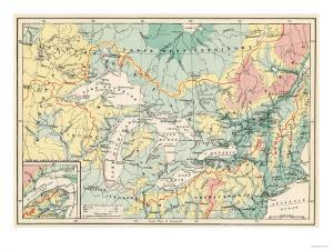 Map of the Great Lakes and the St. Lawrence Watershed