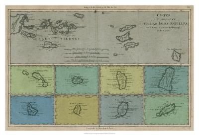 Map of the Greater & Lesser Antilles-Vision Studio-Giclee Print