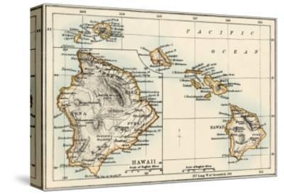 Map of the Hawaiian Islands, 1870s