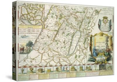 Map of the Holy Land in Old Testament Times by Mons L'Abbe de La Grive, 1772