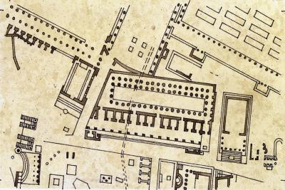 Map of the Imperial Fora, Detail of the Forum of Caesar--Giclee Print