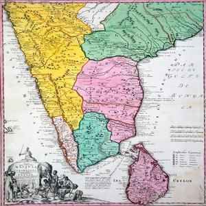 Map of the Indian Peninsula, 1733