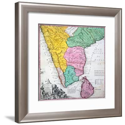 Map of the Indian Peninsula, 1733--Framed Giclee Print
