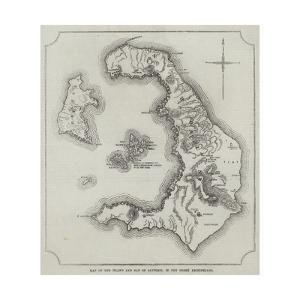 Map of the Island and Bay of Santorin, in the Greek Archipelago