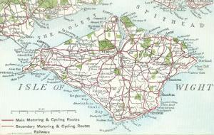 Map of the Isle of Wight, England