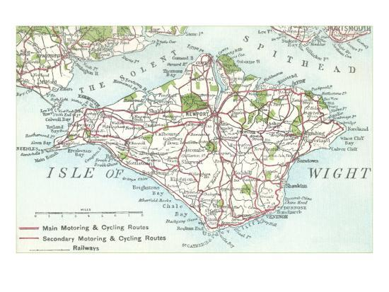 Map of the Isle of Wight, England Art Print by | Art.com Printable Maps Of England on counties and cities in england, coloring pages map of england, new york state map england, map of britain and england, map dorking england, satellite view of england, zoomable map of england, large map of england, po river map of england, green map of england, travel map of england, physical map of england, detailed map of england, map of scotland and northern england, full map of england, map of europe england, dark ages map of england, outline map of england, cities of england, road map of southern new england,