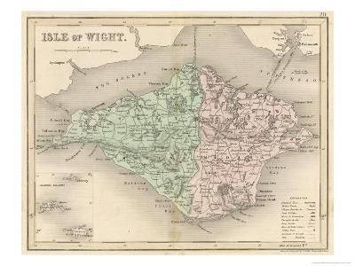 Map of the Isle of Wight-James Archer-Giclee Print