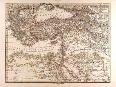 Map of the Mediterranean Sea, 1872--Giclee Print