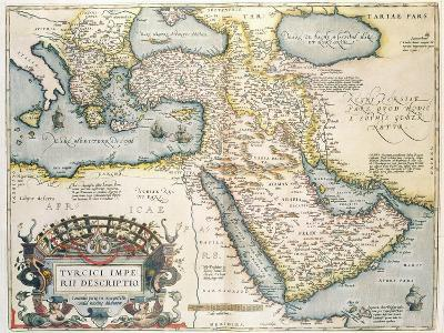 Map of the Middle East, from Theatrvm Orbis Terrarvm, 1570-Abraham Ortelius-Giclee Print