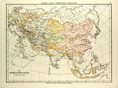 Map of the Mongolian Empire in 1300--Giclee Print