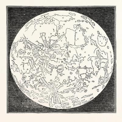 Map of the Moon 1833--Giclee Print