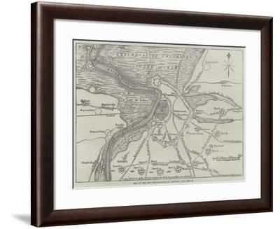 Map of the New Fortifications of Antwerp-John Dower-Framed Giclee Print