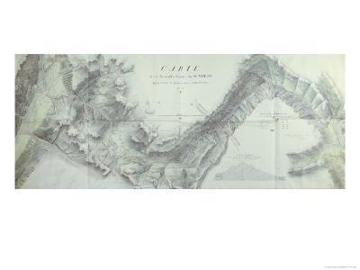 Map of the New Simplon Pass, 1803-Nicolas Ceard-Giclee Print