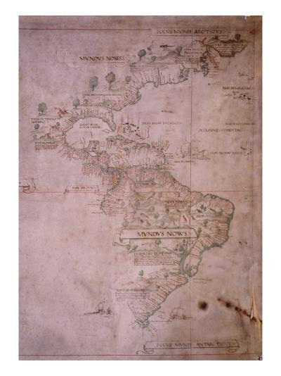 Map of the New World, C.1532--Giclee Print