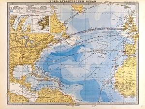 Map of the North Atlantic, 1872
