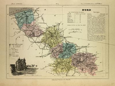 Map of the North of, France--Giclee Print