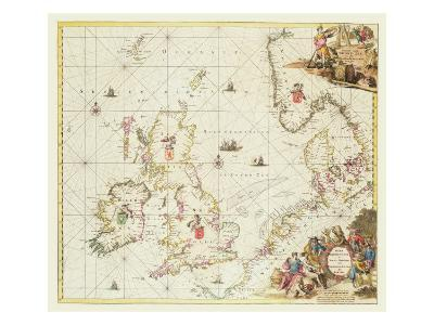 Map of the North Sea, c.1675-Frederick de Wit-Giclee Print