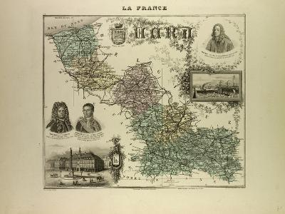 Map of the North West of France 1896--Giclee Print