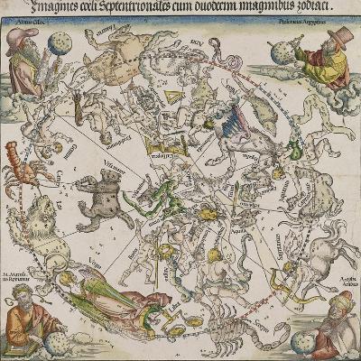 Map of the Northern Sky-Albrecht D?rer-Giclee Print