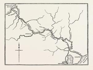 Map of the Panama Railroad, Panama, 1870s