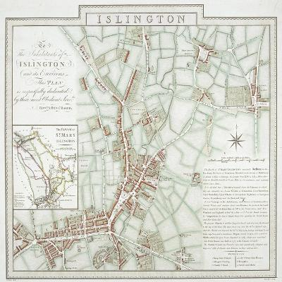 Map of the Parish of St Mary, Islington, London, 1793-Benjamin Baker-Giclee Print