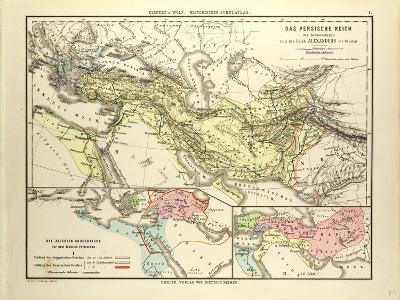 Map of the Persian Empire and the Empire of Alexander the Great--Giclee Print