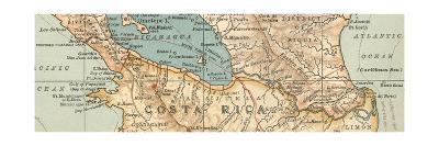 Map of the proposed Nicaragua Canal-Encyclopaedia Britannica-Giclee Print