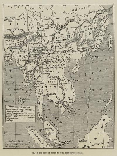 Map of the Proposed Route to China from British Burmah-John Dower-Giclee Print