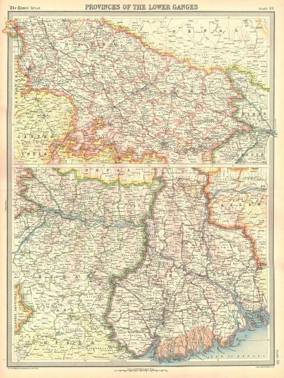 Map of the Provinces of the Lower Ganges-Unknown-Giclee Print