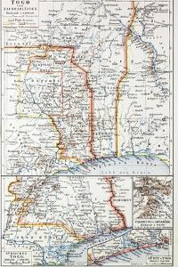 Map of the Republic of Togo, 1899