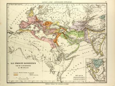Map of the Roman Empire and its Neighbour Empires in the 1st 2nd and 3rd Centuries A.D--Giclee Print